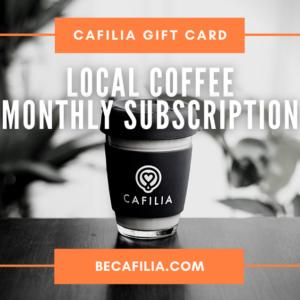 Cafilia gift card